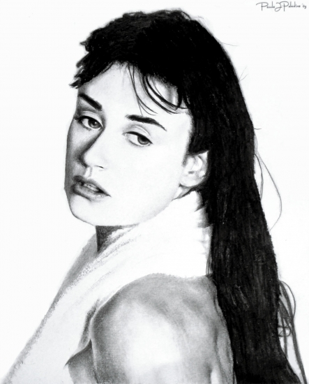Demi Moore by Paladino